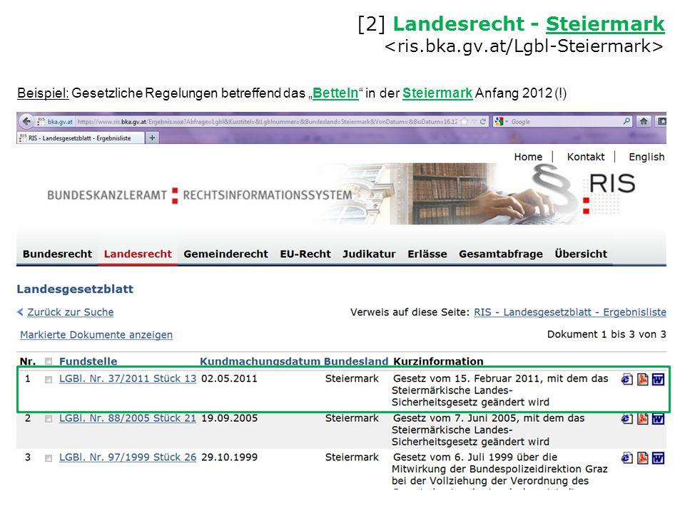 [2] Landesrecht - Steiermark <ris.bka.gv.at/Lgbl-Steiermark>
